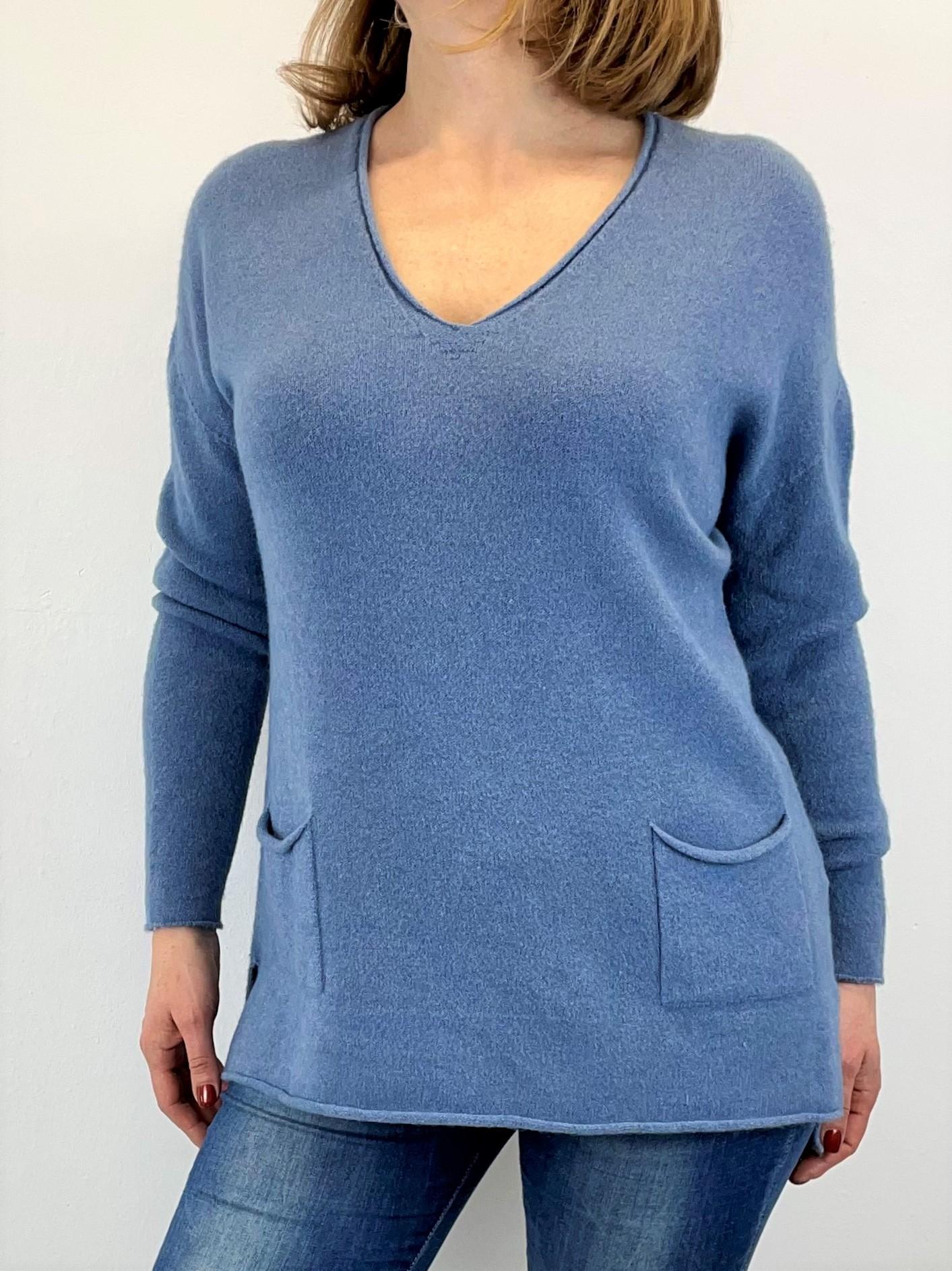 Feinstrick Pullover in Blau