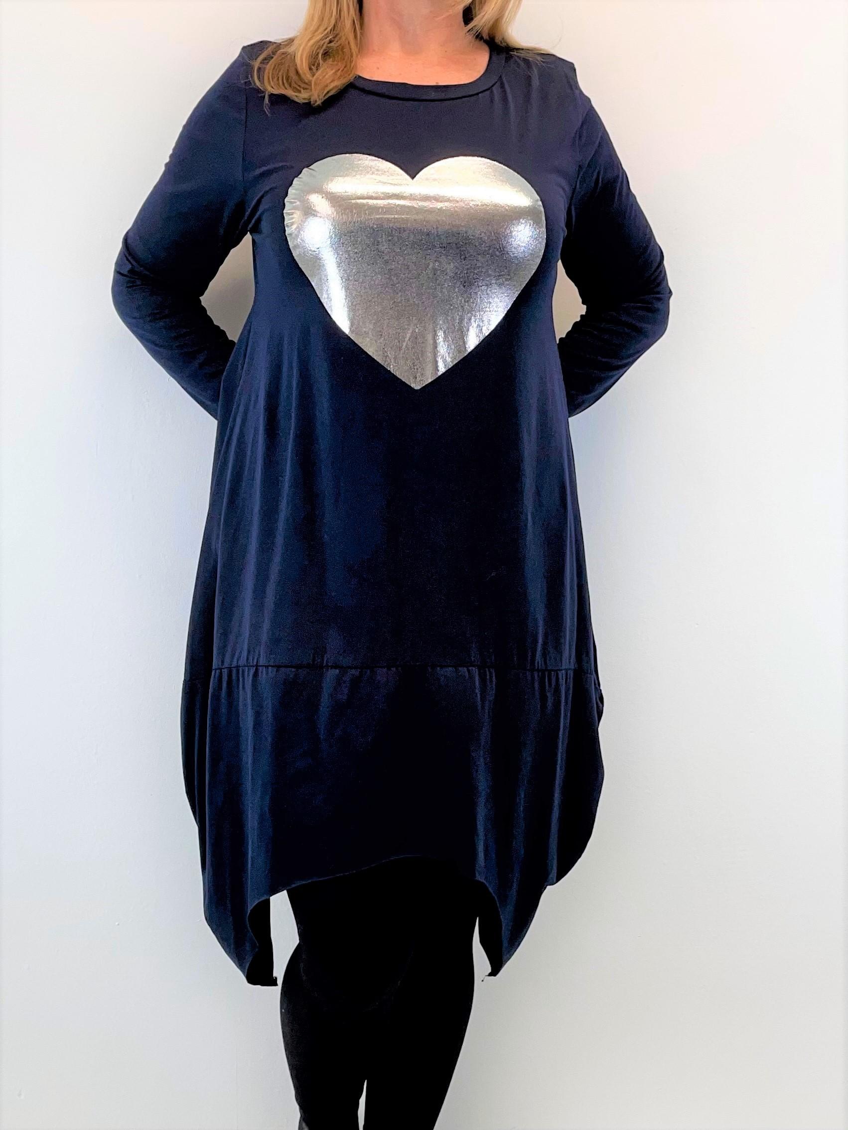 Egg Shape Jersey Kleid mit Herz
