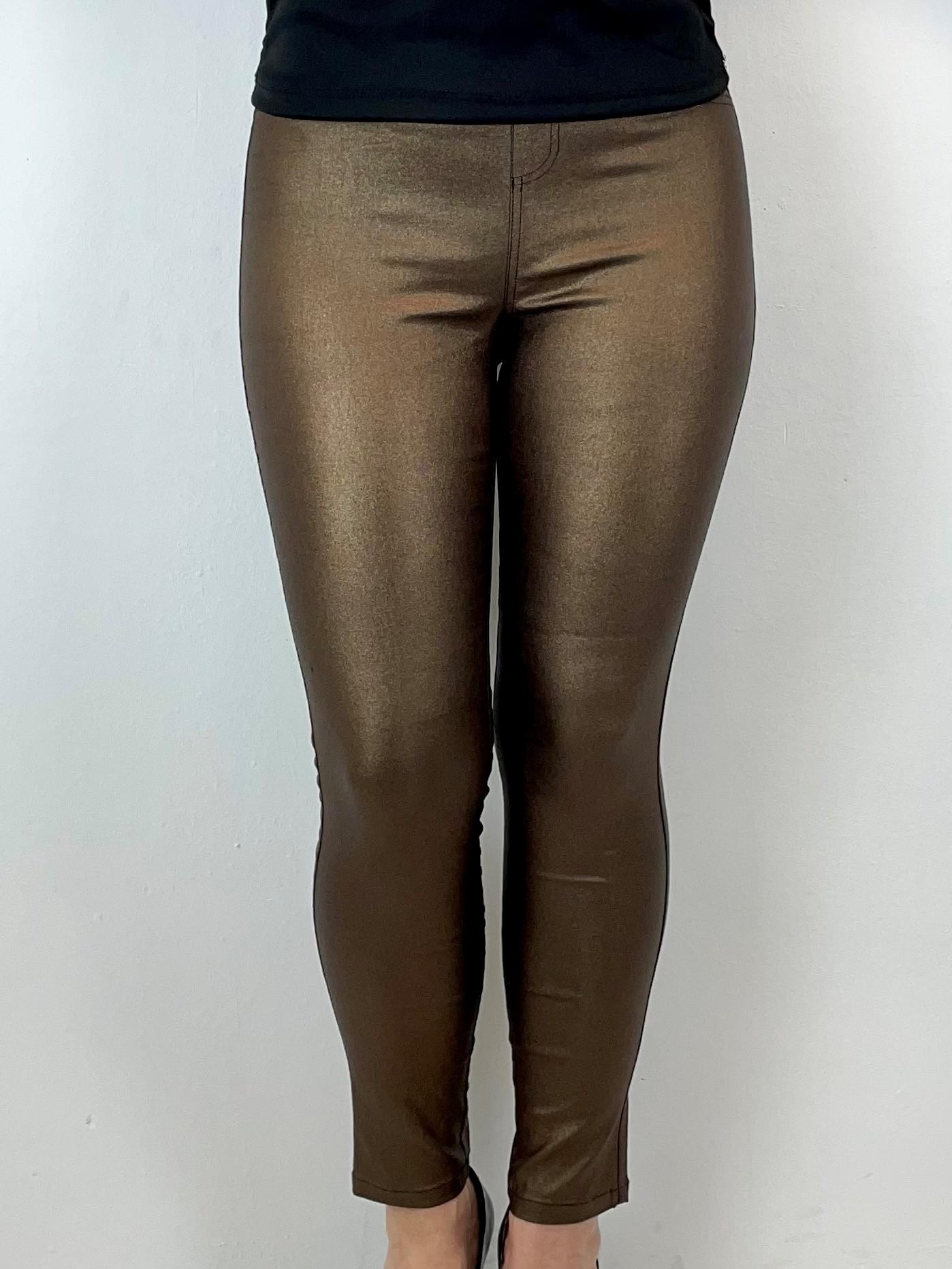 Stretch Jeans in Coated-Design
